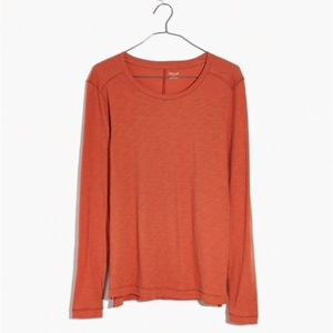 NWT Madewell Whisper Long-Sleeve Crewneck Tee